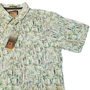 Mens PK Cuffs Artsy Collared Button up Shirt